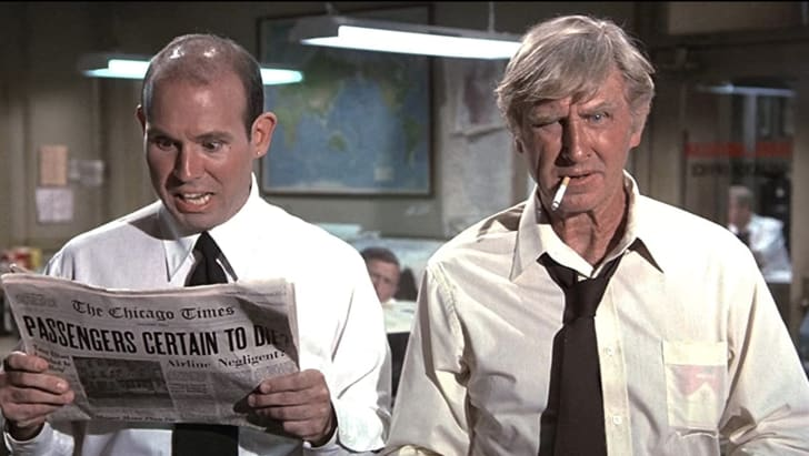 Lloyd Bridges and Stephen Stucker in Airplane! (1980)