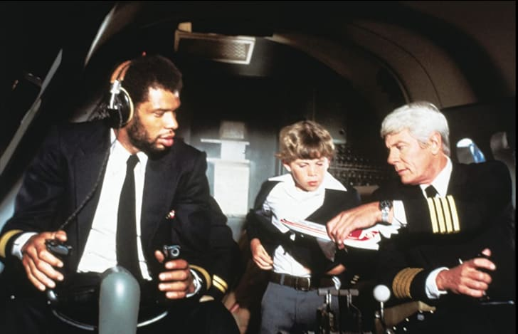 Kareem Abdul-Jabbar, Peter Graves, and Rossie Harris in Airplane! (1980)