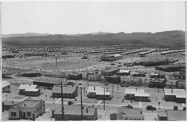 Panorama of Boulder City, Nevada from Water Tank Hill