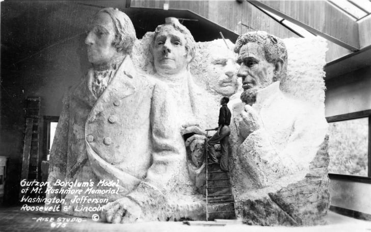 Borglum's model of Mt. Rushmore