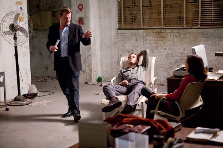 Christopher Nolan, Leonardo DiCaprio, and Ellen Page in Inception (2010)