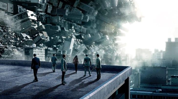 Leonardo DiCaprio, Joseph Gordon-Levitt, Tom Hardy, Ellen Page, Ken Watanabe, and Dileep Rao in Inception (2010)