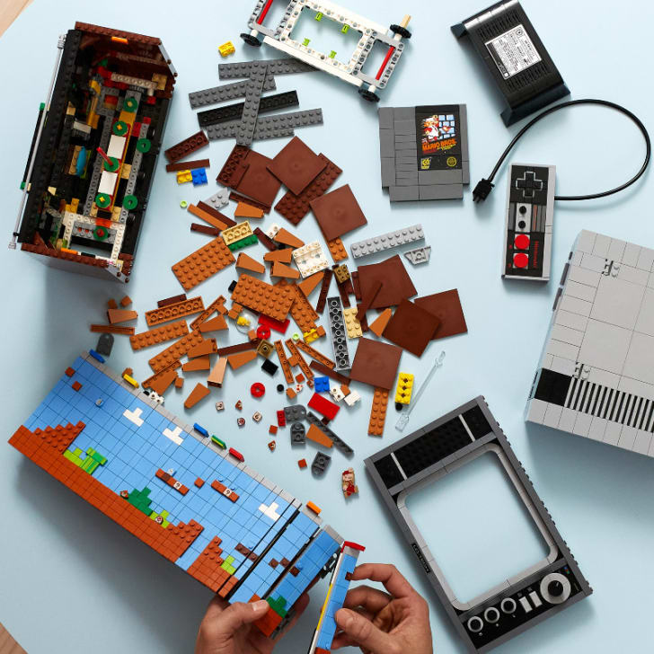 The LEGO Nintendo Entertainment System Building Kit is pictured