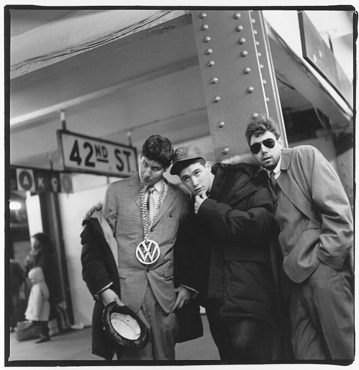 Beastie Boys at the West 42nd Street subway station in Times Square in 1986.