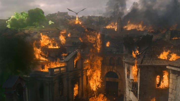 Daenerys Targaryen faz cerco à Fortaleza Vermelha emGame of Thrones.HBO