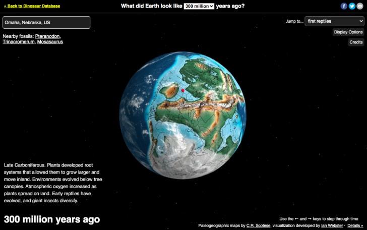 Conheça o incrível mapa interativo que mostra quais dinossauros perambulavam pelo seu bairro há milhões de anos