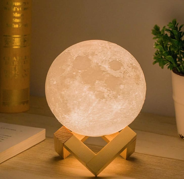 Check out Mydethun's moon lamp during Amazon's Cyber Monday sale.