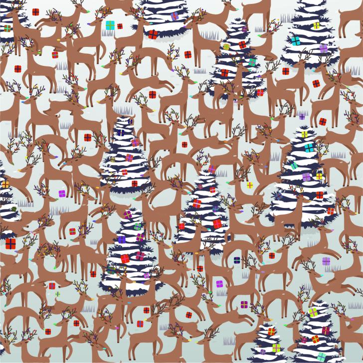Enigma da imagem escondida da rena.