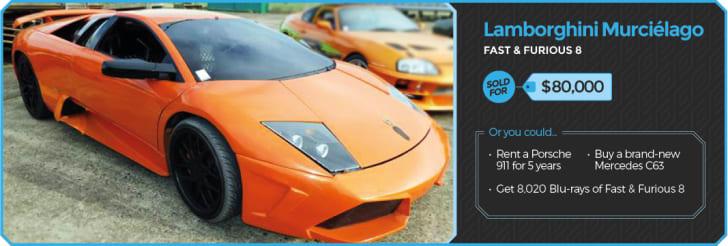 Lamborghini from Fast & Furious.