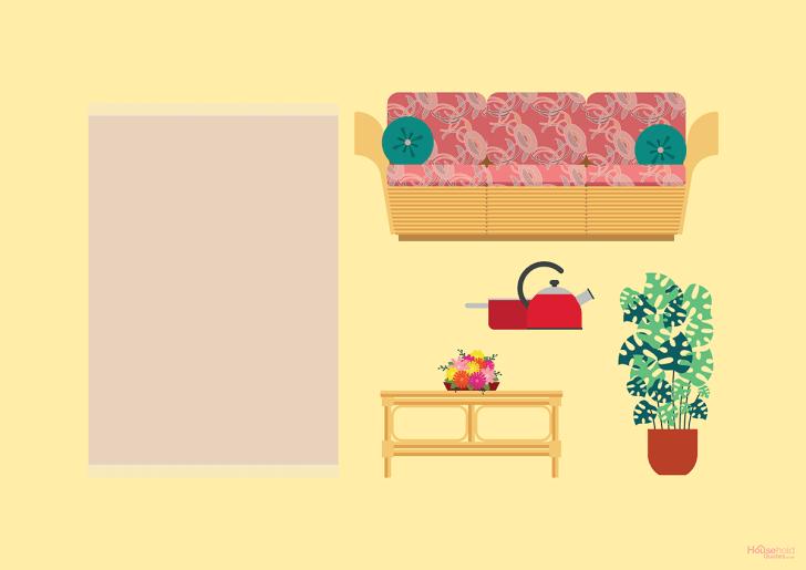 Minimalist TV interior.