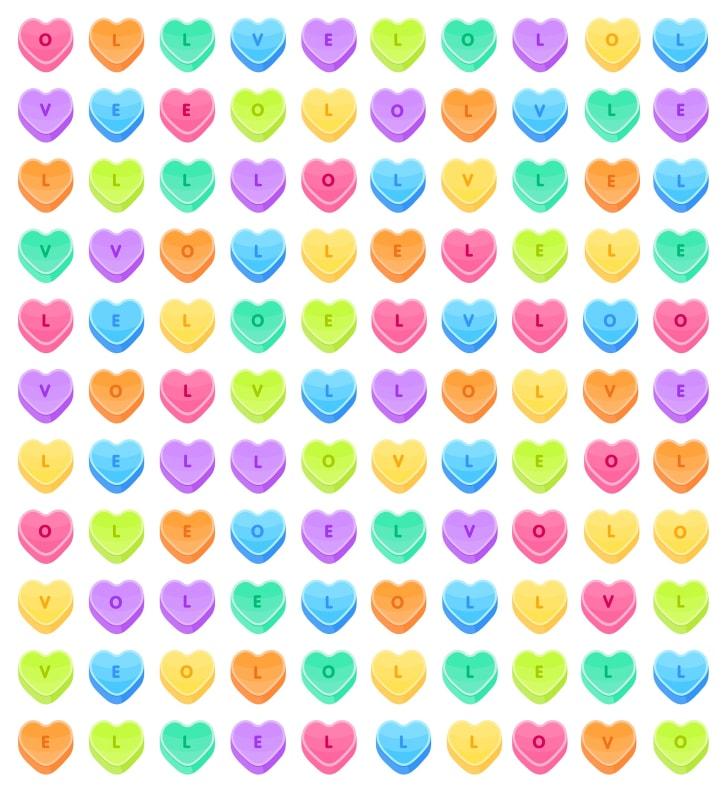 Momento diversão: encontre a palavra LOVE neste joguinho de palavras