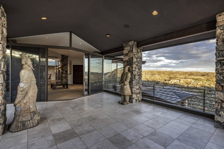 A home owned by Steven Seagal in Scottsdale, Arizona is pictured