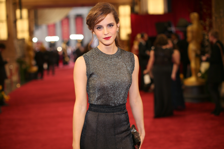 Emma Watson attends the Oscars at Hollywood & Highland Center on March 2, 2014 in Hollywood, California.