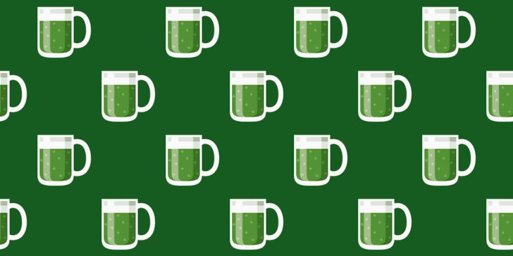 Irish green beer pattern