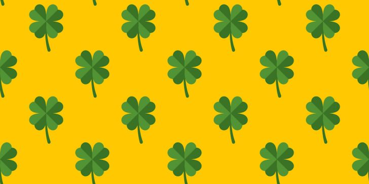 Irish shamrock pattern
