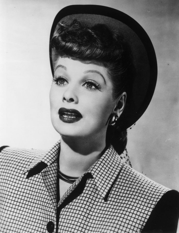 Portrait of Lucille Ball.