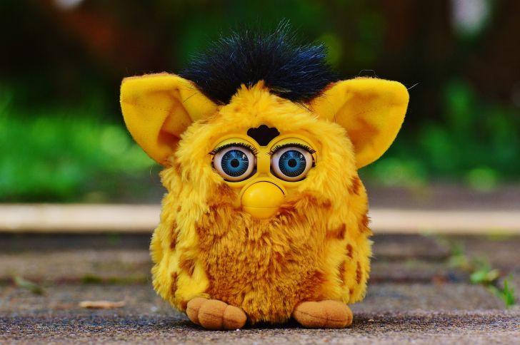A yellow Furby