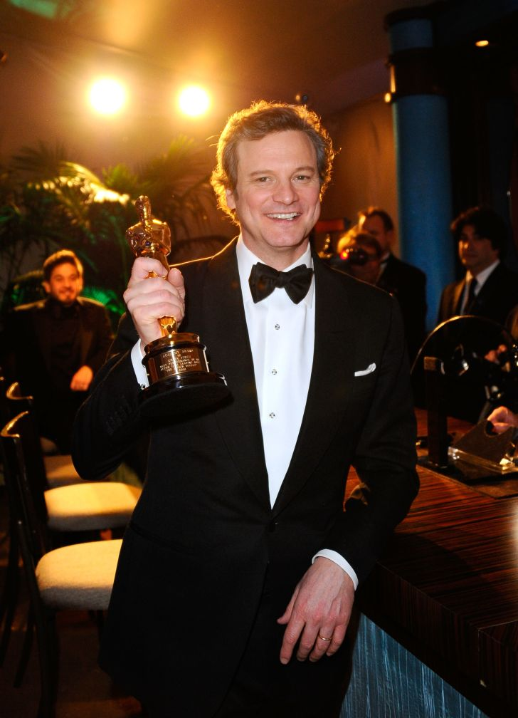 Colin Firth with his Oscar in 2011.