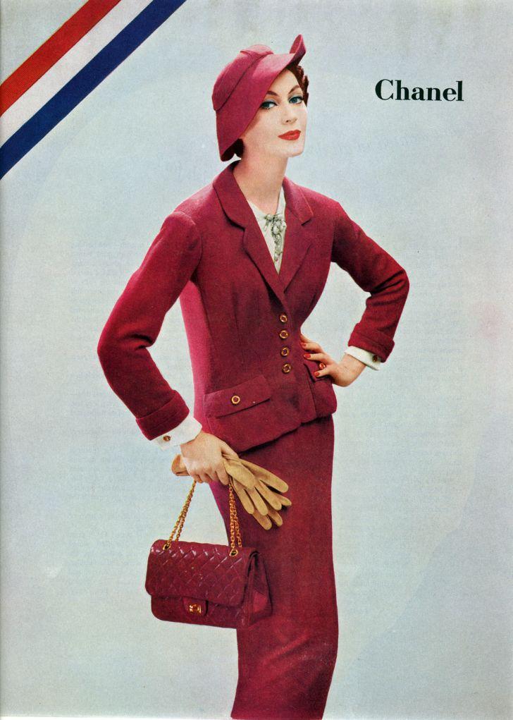 A Chanel ad, circa 1956.