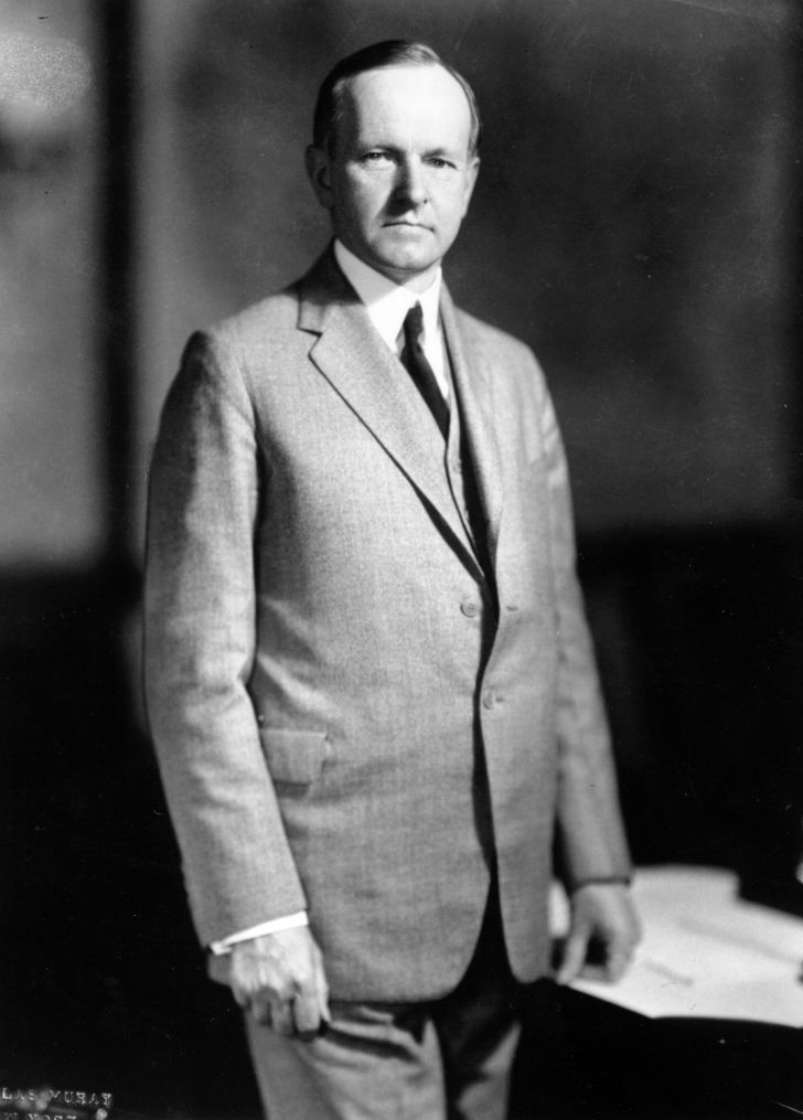 portrait of Calvin Coolidge