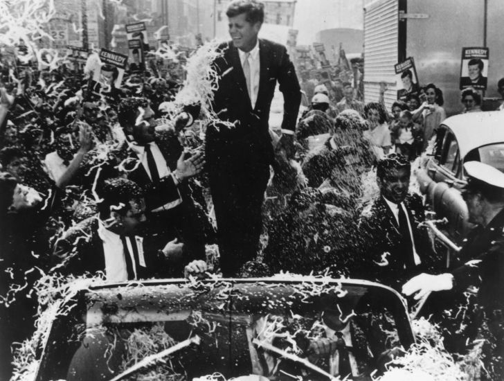 JFK during a campaign.