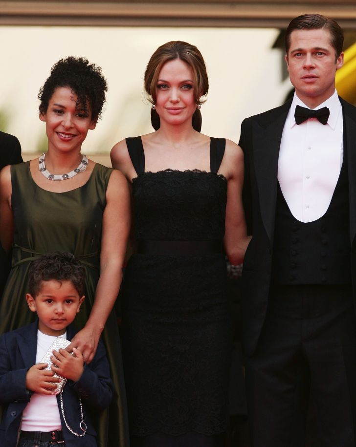 Author Mariane Pearl, Angelina Jolie, and Brad Pitt attend the premiere for the film 'A Mighty Heart' at the Cannes Film Festival in 2007.