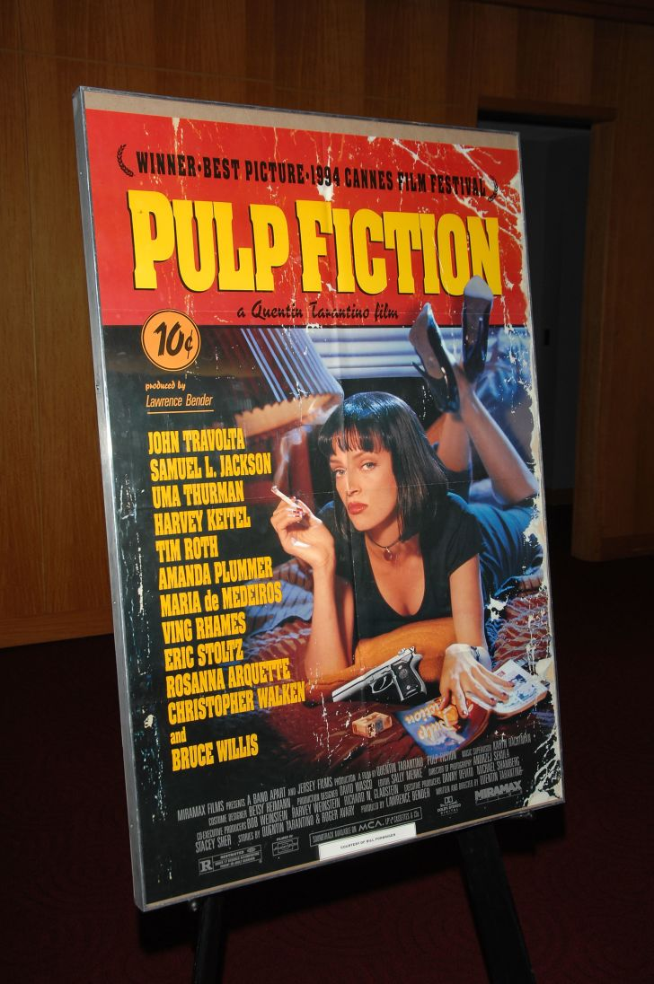 The Pulp Fiction movie poster.