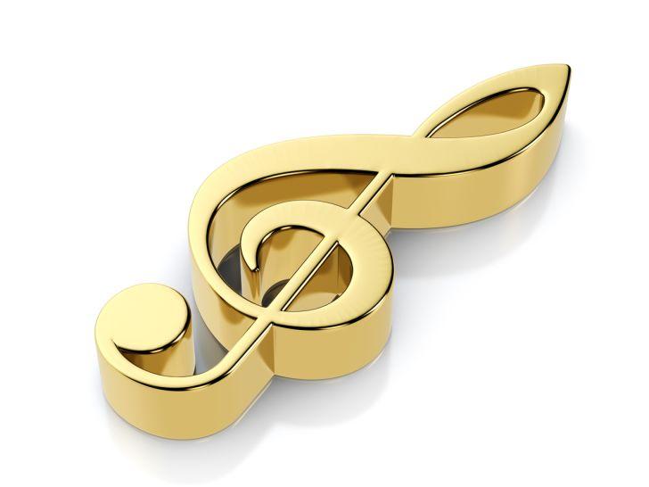 A golden musical note
