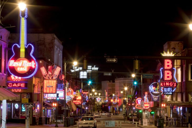 Beale Street in Downtown Memphis, Tennessee