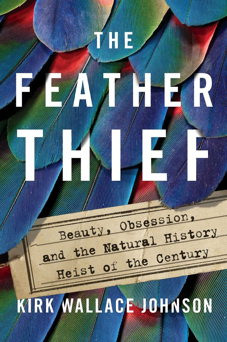 An image of the cover of the book The Feather Thief.