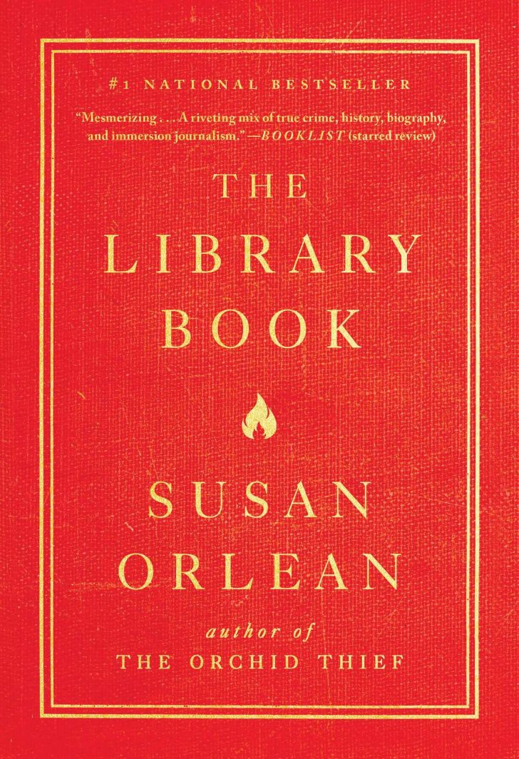 An image of the cover of The Library Book.