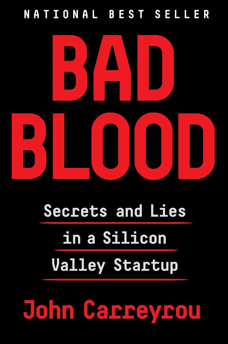 The cover of the book Bad Blood.