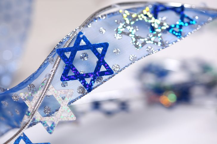 Star of David on a ribbon