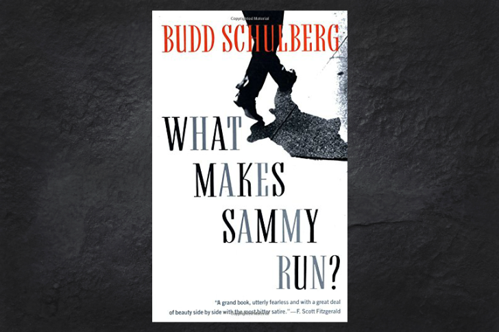 The cover the book What Makes Sammy Run on a black background.