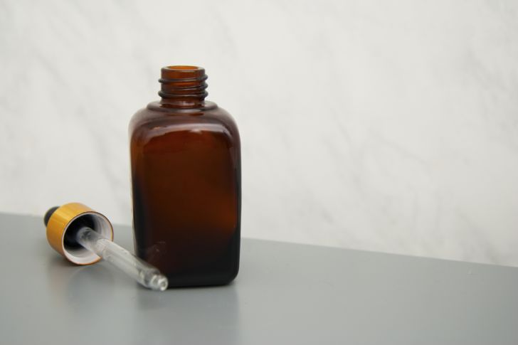 Bottle of oil cleanser.