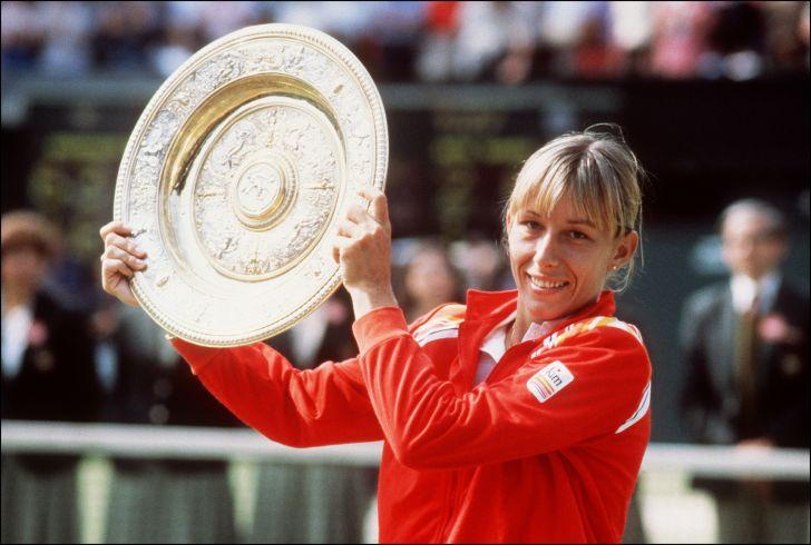 Martina Navratilova after winning Wimbledon in 1982.