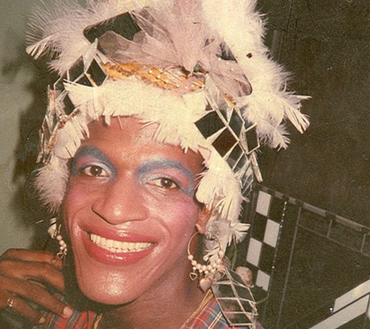 Snapshot of activist Marsha P. Johnson