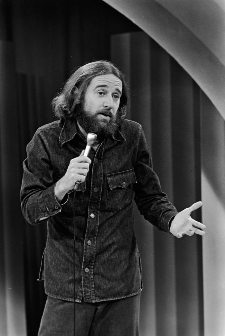 George Carlin doing a stand-up set