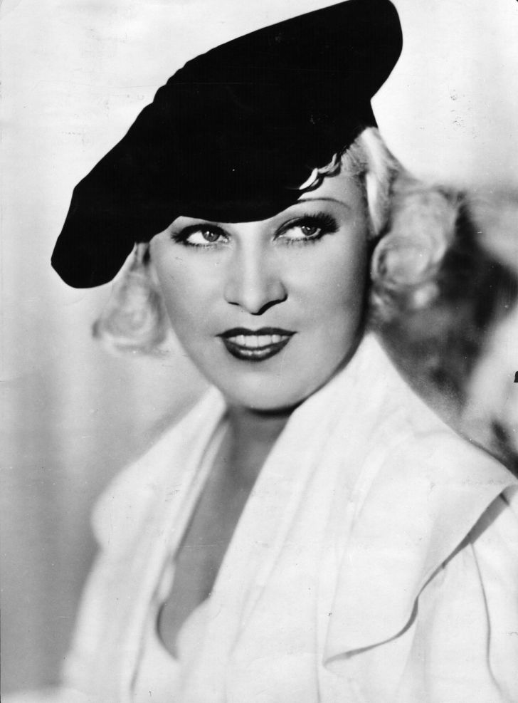 A portrait of Mae West