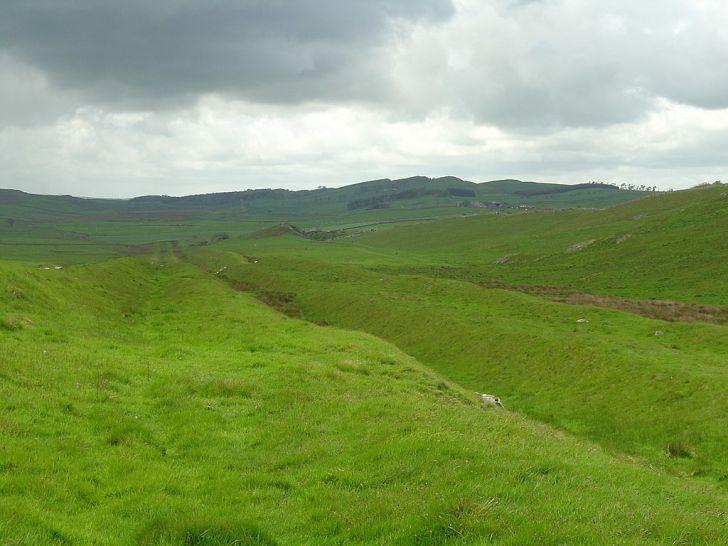 Vallum at Hadrian's Wall