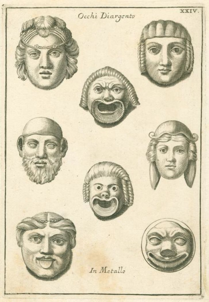 ancient roman theater masks