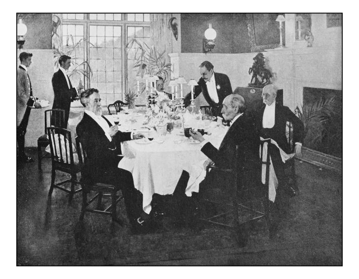 old-fashioned formal dinner