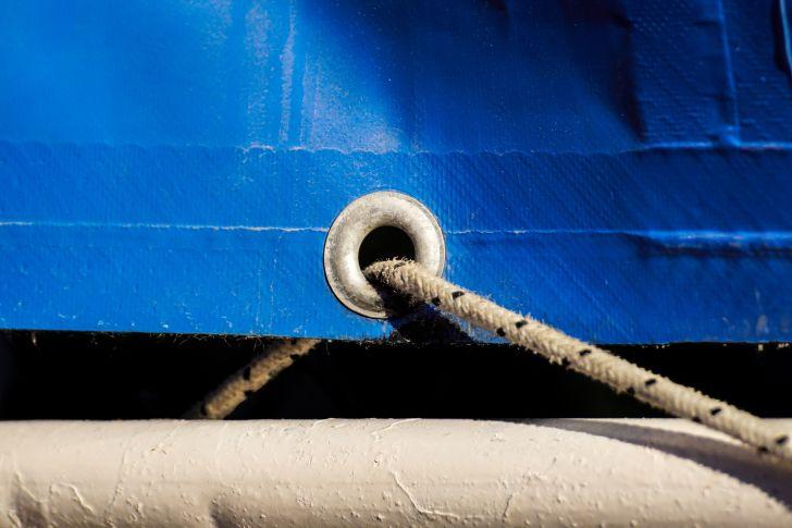 rope through a tarp