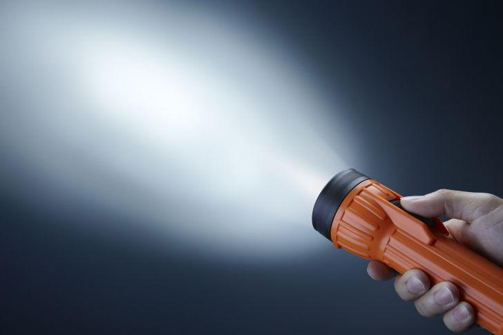 orange flashlight