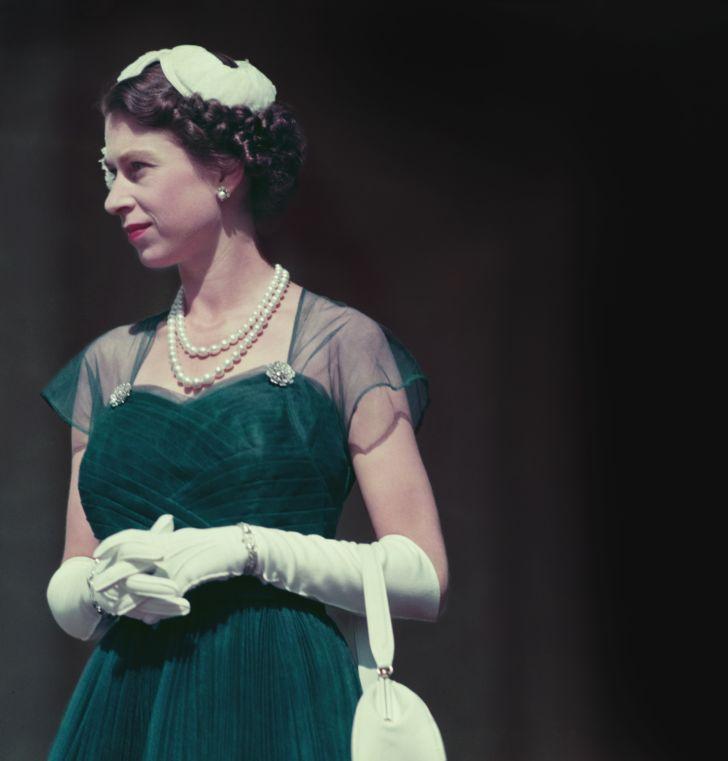 Queen Elizabeth II in Australia in 1954.