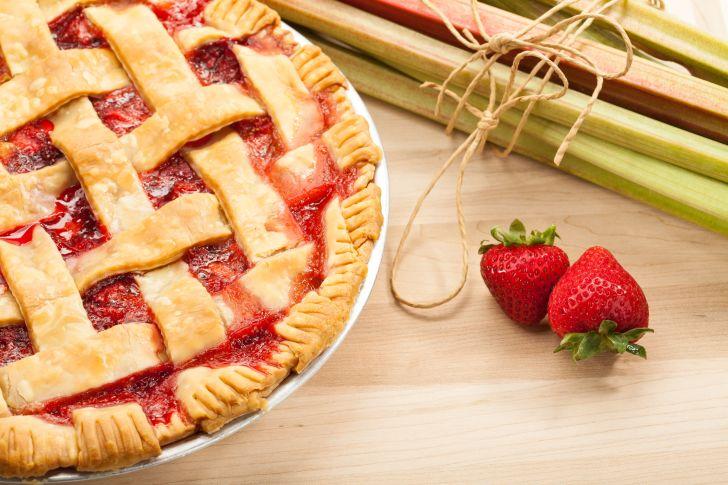 A strawberry rhubarb pie.