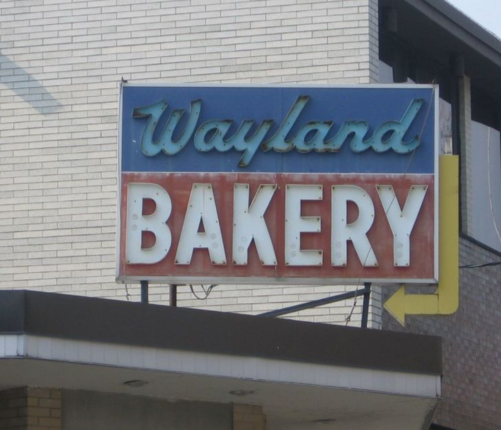 The sign at Providence's Wayland Bakery.