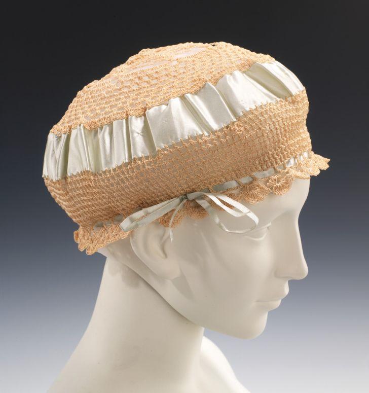 Hat on mannequin.
