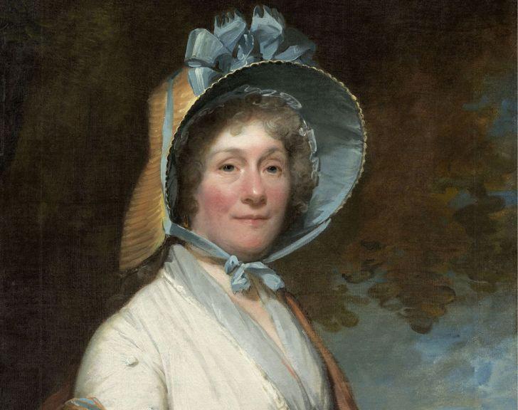 Woman wearing bonnet.