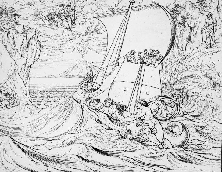 Drawing of Jason and the Argonauts.